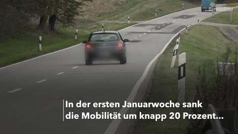 Mobilität sinkt – Kaum noch Reisen über 30 Kilometer