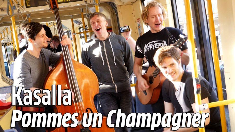 Kasalla: Pommes un Champagner - live in der KVB-Bahn