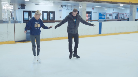 MUM RECONNECTS WITH ICE SKATING-LOVING TEENAGE SON