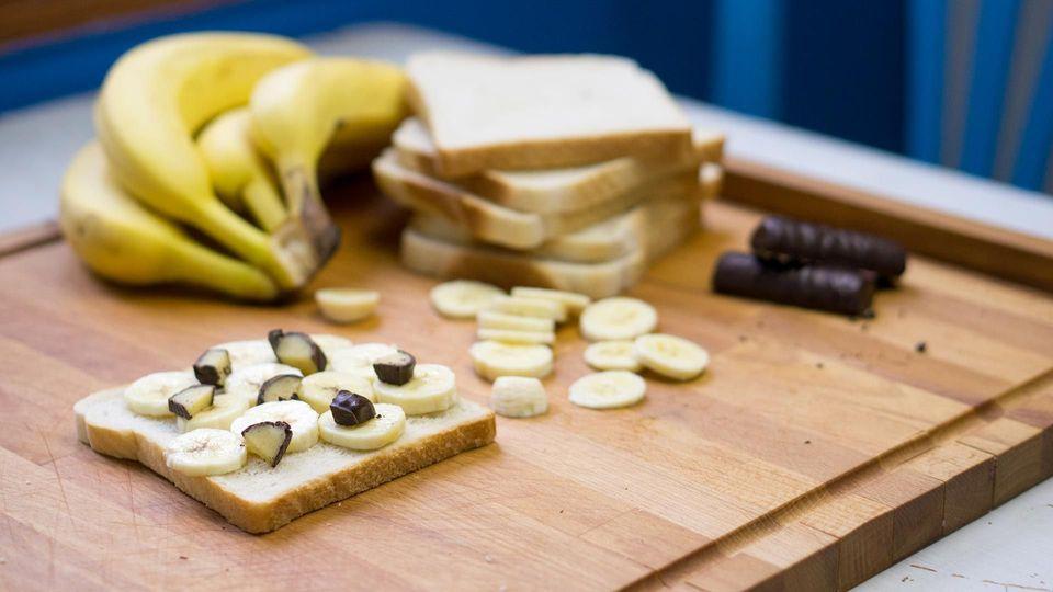 Bananen? Marzipan? Eine Traumkombi für ein Super-Sandwich!