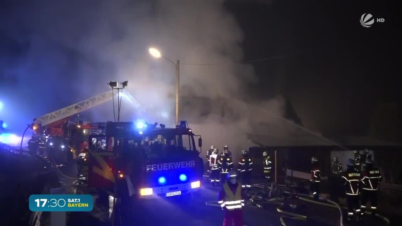 Eschenlohe in Oberbayern: Wohnhaus und Scheune komplett abgebrannt